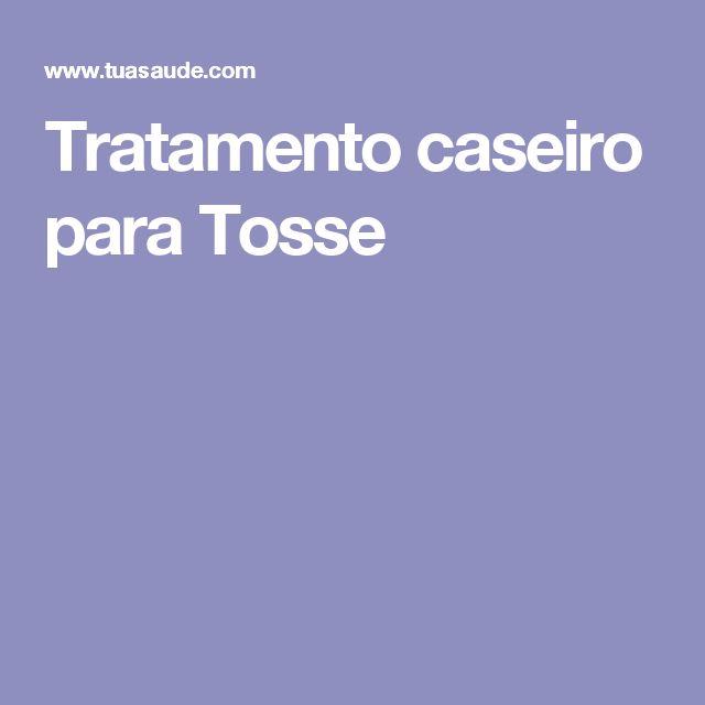 Tratamento caseiro para Tosse