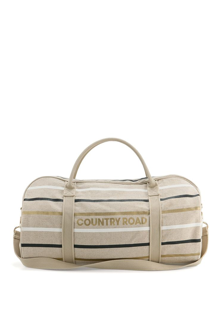 Women's Tote Bags | Country Road Online - Linen Stripe Logo Tote