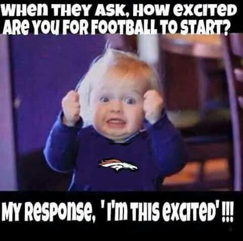 Are you excited for football to start?