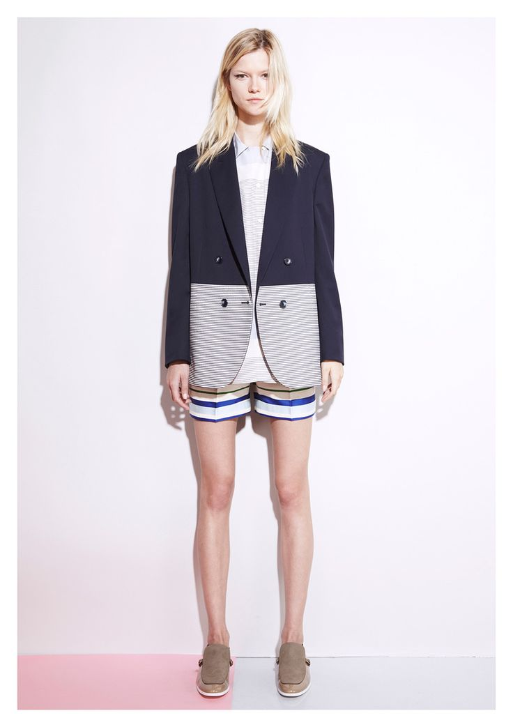 one of the best looks ive seen. stella mccartney #tomgirlstyle: Mccartney Resorts, Stella Mccartney, 2012 Collection, Fashion Week, Shorts Style, 2012 Fashion, Blazers, Resorts 2012, Spring 2012