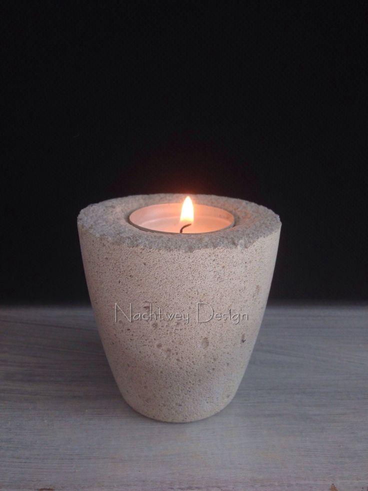 Beton Teelichthalter Candlestick concrete minimalistic industrial shabby chic Kerzenhalter Windlicht Dekor candle Beton Deko von BetonDesignGER auf Etsy