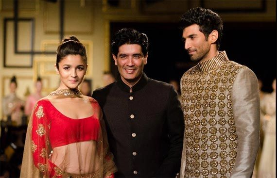 Alia Bhatt & Aditya Roy Kapur walk for Manish Malhotra at ICW 2014