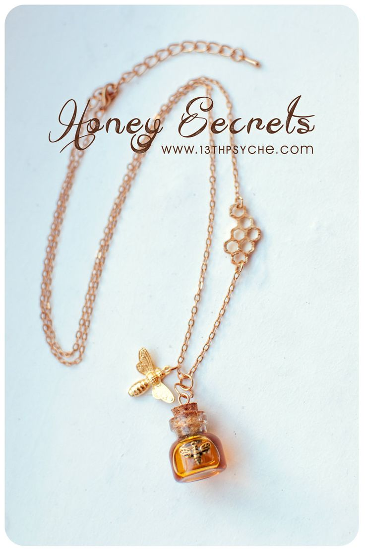Honey Bottle necklace. honey vial necklace. glass Bottle Pendant.miniature bottle  necklace,