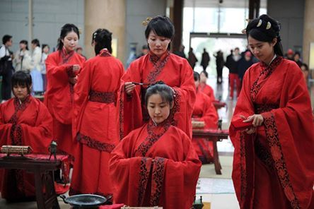 osCurve   Contactos : #China #cultura Las chicas chinas celebran l...