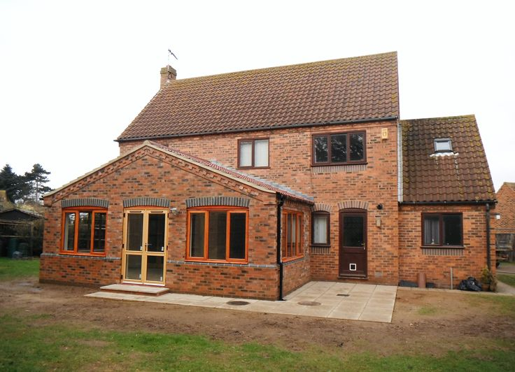 Single storey extension, Old Hunstanton, Norfolk. The property sits in beautiful surroundings and attention was given to matching brickwork details between 'existing' and 'new'. On completion, the extension created a generous sized Sun-Lounge to the rear garden for the family to enjoy.