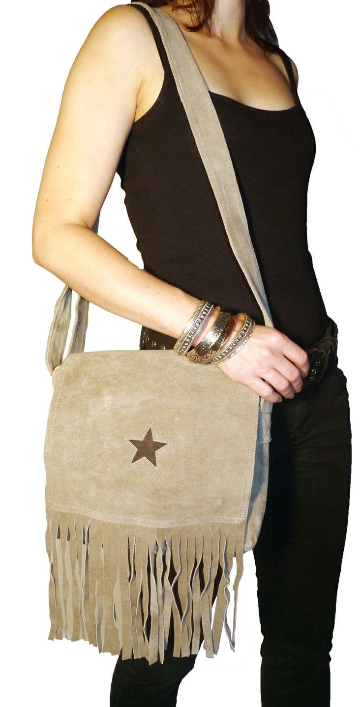 Newport Star mockaväska/suede bag, bälte/belt & armband/bracelets @ www.decult.se