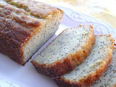 Orange Glazed Poppyseed Bread
