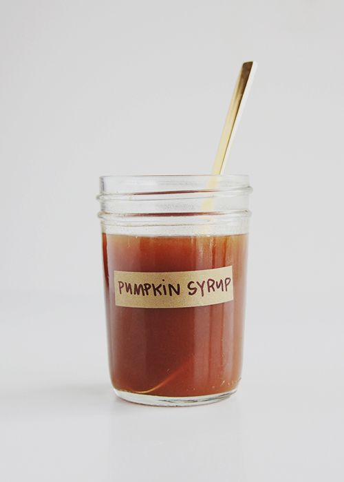 Make your own pumpkin syrup to transform your coffee in to a pumpkin spice latte any time you want. This is brilliant!