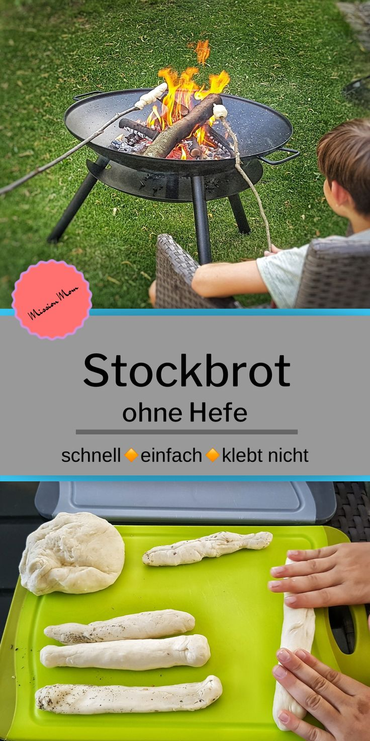 Stockbrot Rezept mit Kindern herstellen
