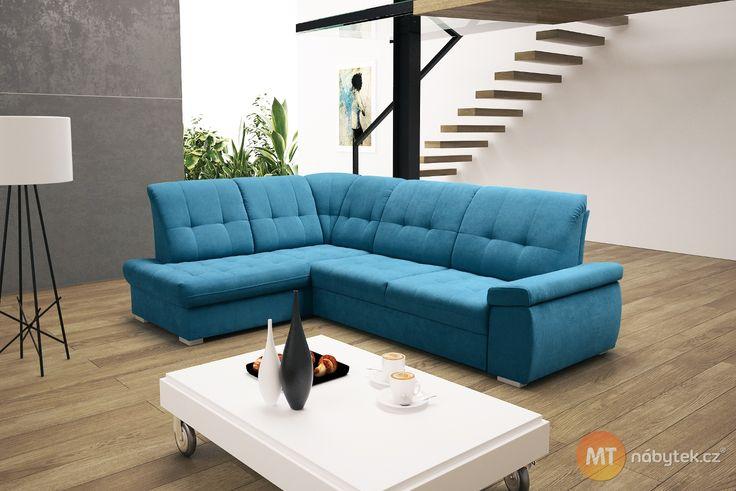 Dopřejte hostům nejen pohodlné sezení, ale také komfortní přespání na rozkládací sedačce Faun s ložnou plochou 130 x 207 cm. Levé i pravé rohové provedení.