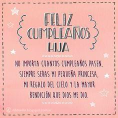 "Tarjeta de Cumpleaños para hijas ""Mi pequeña princesa"