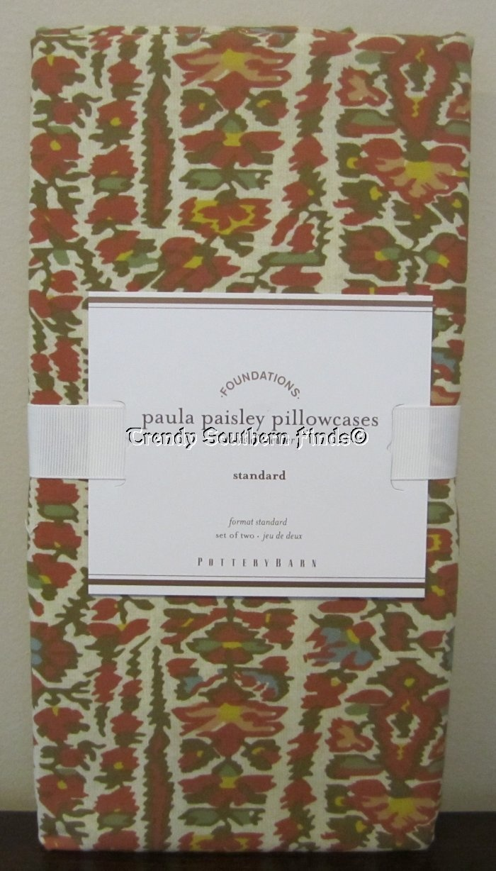 Paisley curtains pottery barn - Nip Set Of 2 Pottery Barn Warm Paula Paisley Pillowcases Standard