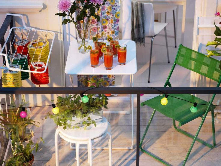 boldly small balcony affordable furniture thats easily folded up and stored away is ideal for entertaining - Garden Ideas Ikea