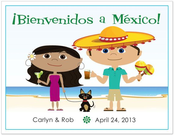 WELCOME BAGS POSTCARD _Mexican Wedding Welcome Bag Notes, Beach Welcome Bag Notes, Destination Wedding Welcome Letter, Destination Wedding Welcome Bag Note