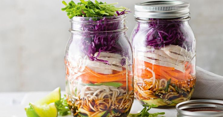 Make lunch on the run easy with this salad in a jar.