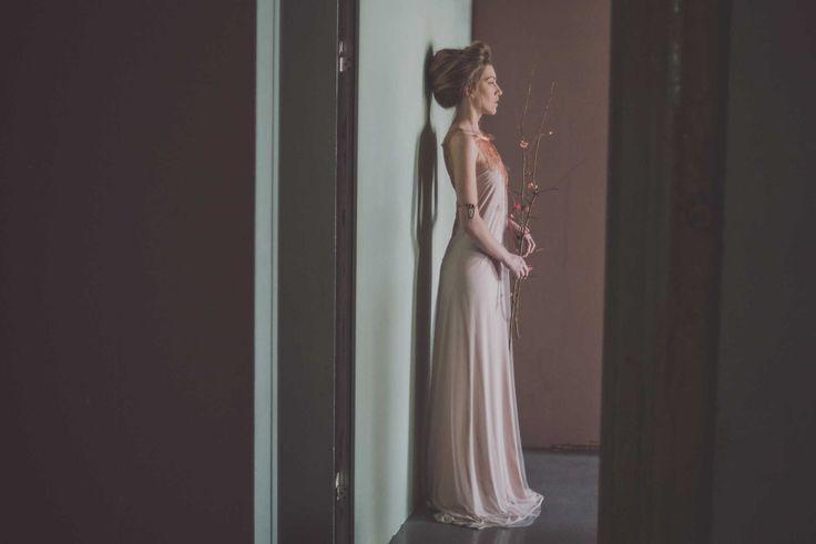 Soft #pink #maxi #evening #dress #alternative #bohemian