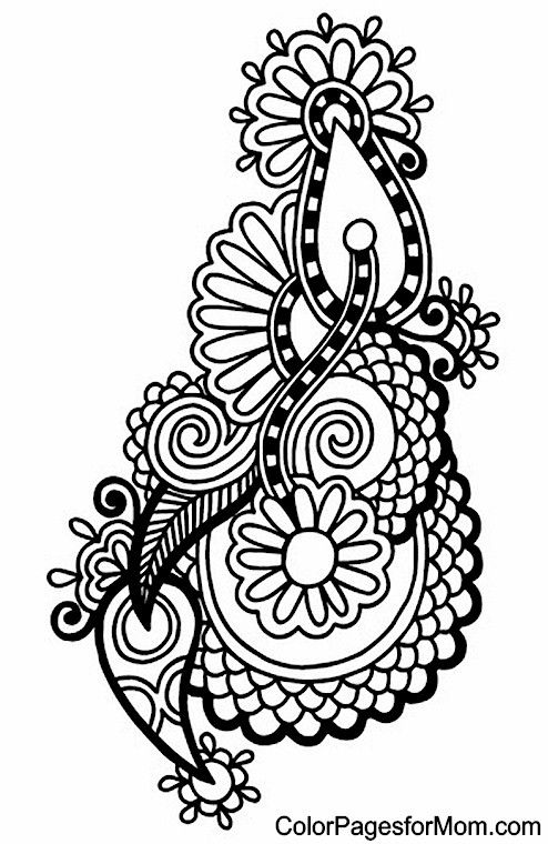 free paisley adult coloring pages - photo#15
