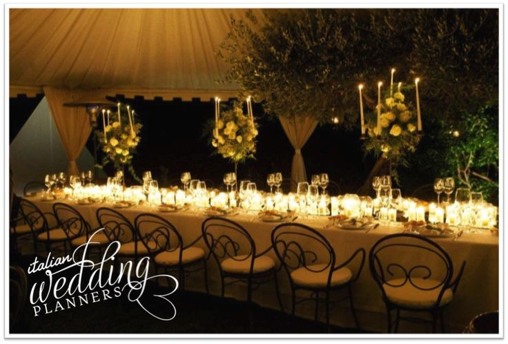 Make a wow-factor statement at your reception with tons of candles: romance guaranteed! Email our Cinque Terre wedding planners for info: info@italianweddingplanners.com
