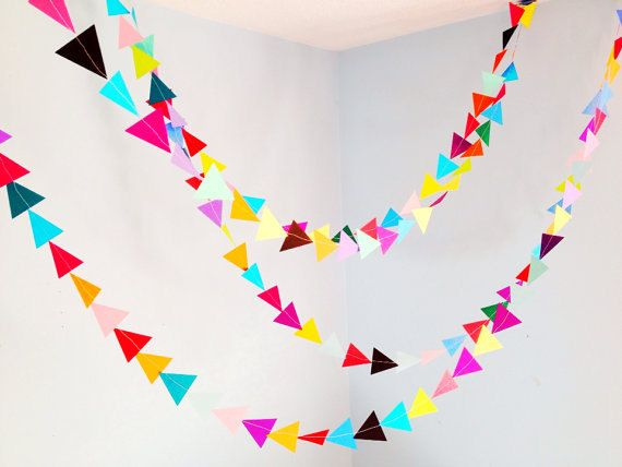 Geometric Garland--Multicolored Party Garland Perfect for wedding decoration, photo booth prop, baby shower decor, nursery decor