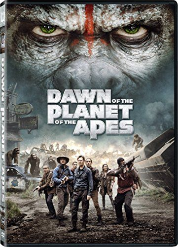 Dawn of the Planet of the Apes-  A growing nation of genetically evolved apes led by Caesar is threatened by a band of human survivors of the devastating virus unleashed a decade earlier. They reach a fragile peace, but it proves short-lived, as both sides are brought to the brink of a war that will determine who will emerge as Earth's dominant species.