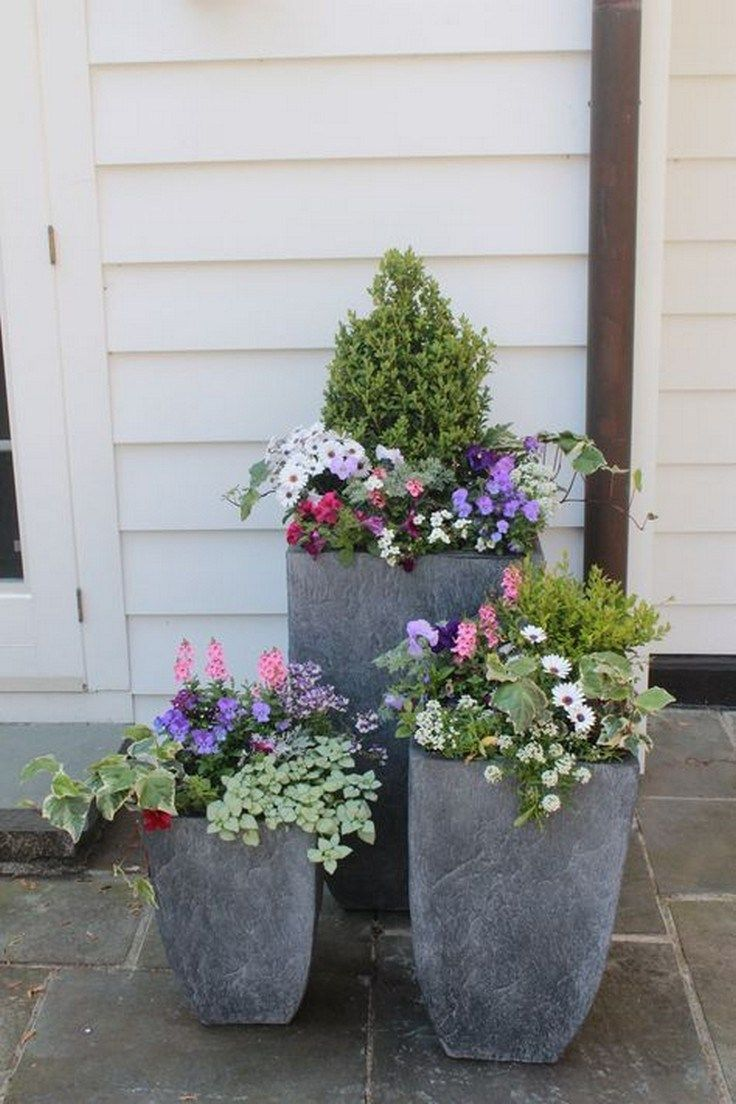 Cement Planters Diy Container Gardening Garden Containers Easy Landscaping