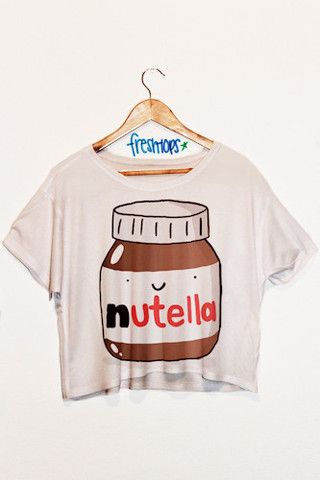 Nutella crop shirt