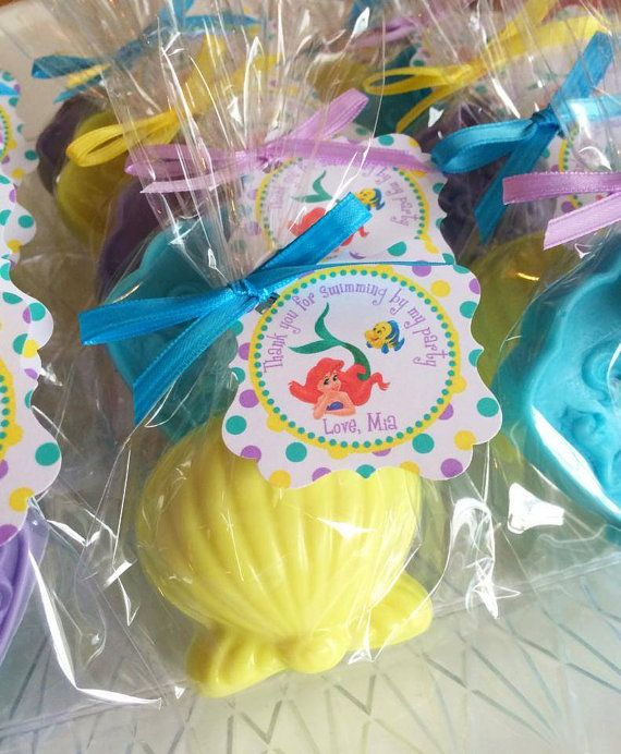 Wedding Favor Ideas Little Mermaid: 10 MERMAID And SHELL SOAPS (with Tags & Ribbons)