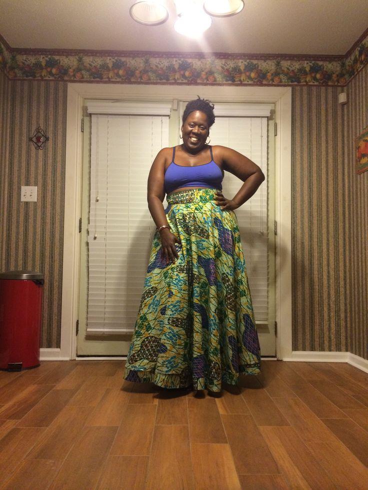 Ankara Maxi Skirt Tutorial…..                                                                                                                                                                                 More
