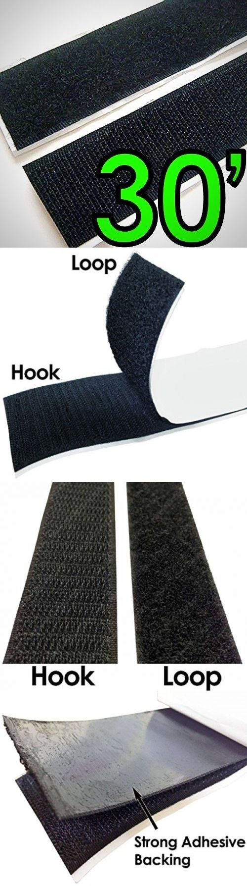 Hook and Loop Tape 180927: Electriduct 1 Self Adhesive Hook And Loop Sticky Back Tape Fabric Fastener - 30 -> BUY IT NOW ONLY: $38.99 on eBay!