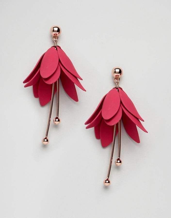 Ted Baker Florela Fuchsia Drop Flower Earrings With Images Watermelon Tourmaline Jewelry Women S Earrings Jewelry Trends
