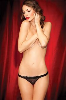 Cute and Sexy Showgirl Thong - sparkles and available in three sizes.