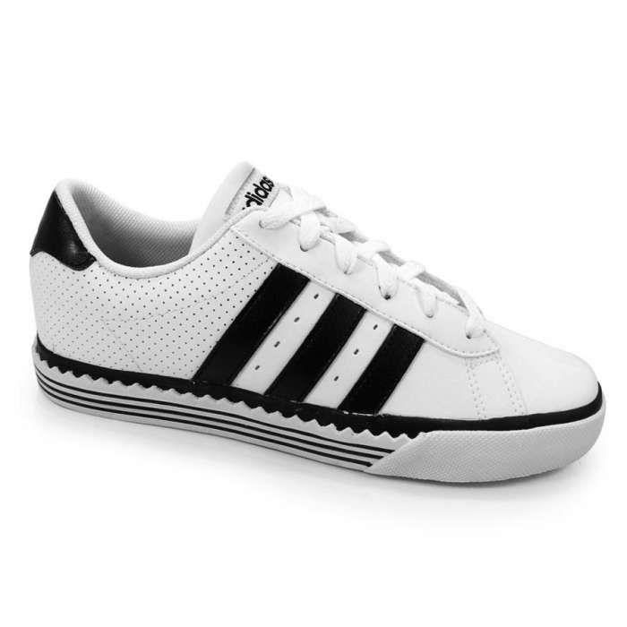 Tênis Casual Masculino Adidas Daily Vulc Twist Ref. U45258 - Branco / Preto