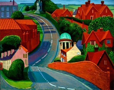 The Road to York through Sledmere, 1997 David Hockney