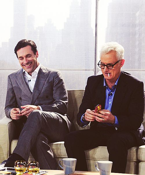 those two.... #jonhamm #johnslattery #madmen