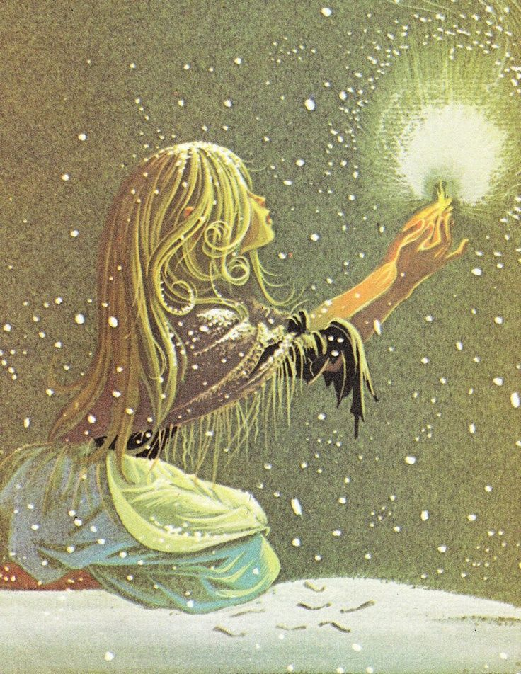 Fairy Tale Illustrations Vintage | The Little Match Girl - Vintage Illustration