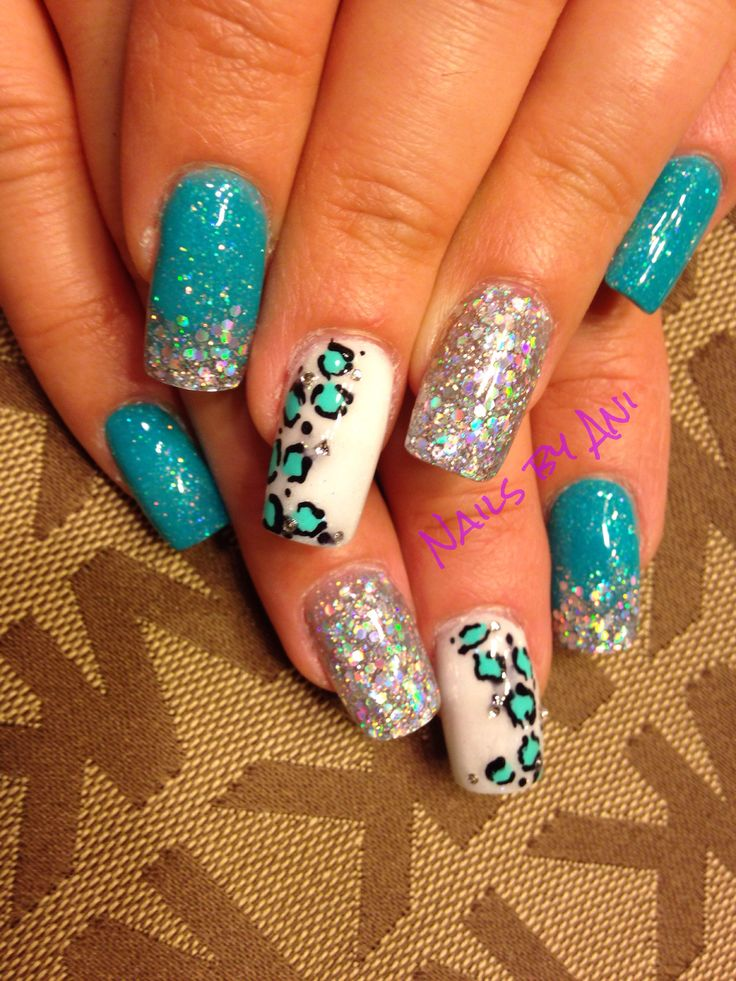 Turquoise nails - 54 Best Acrylic Nail Designs Images On Pinterest Acrylic Nail