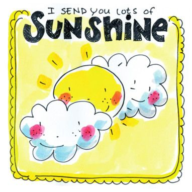 Twee blije wolkjes en een blij zonnetje- Greetz