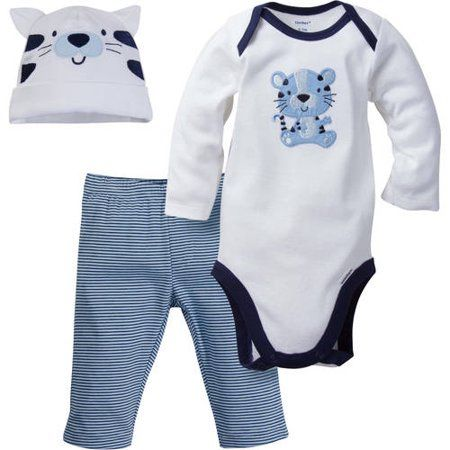 Long Sleeves Boys Newborn Bodysuits Baby Boys Blue 6 Per Pack Size 6-9 Clearance