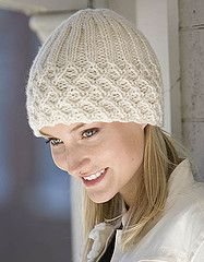 Ravelry: Lattice Ribbed Hat pattern by Sharon Brown