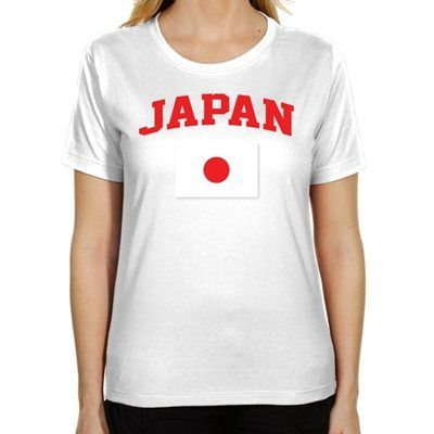 Japan Ladies Flag World Cup Soccer T-Shirt