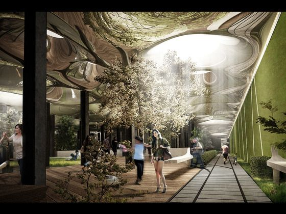 Brilliant Kickstarter proposal that redirects sunlight to build green park space underground. I'm in!!
