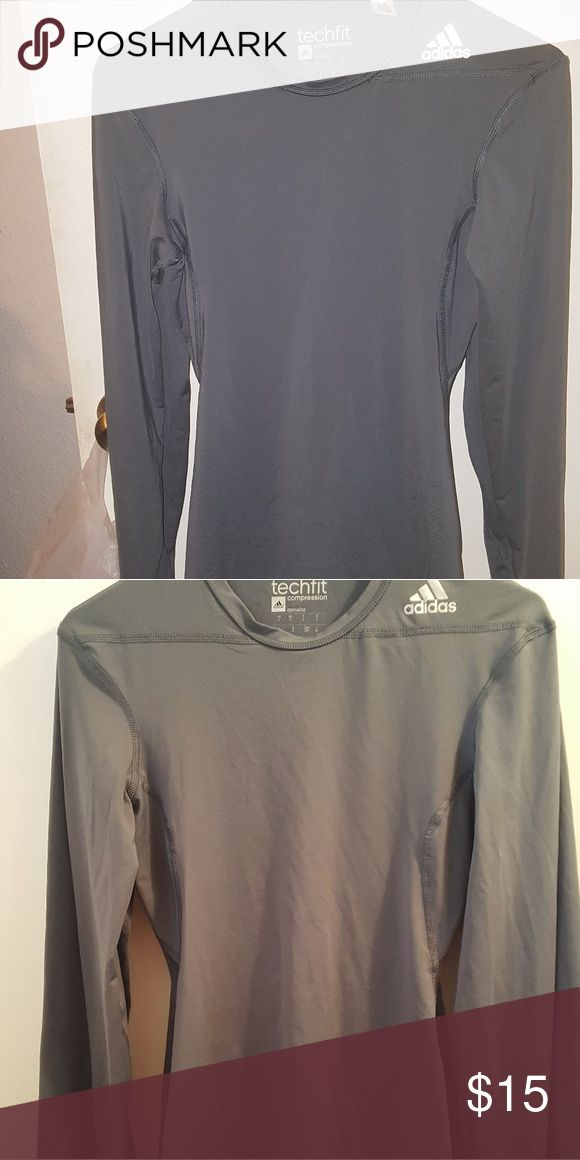 Adidas TechFit Adidas techfit Long Sleeve dark onyx color used once. Adidas Other