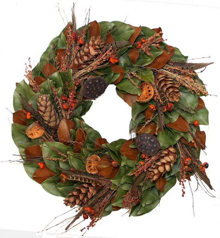 Dried Sugarcone Thanksgiving Wreath-Available in Four Different Sizes www.wellappointedhouse.com