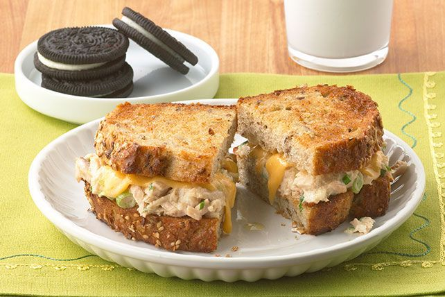 Want something warm and comforting? Try this classic sandwich with yummy melted cheese on whole grain bread.