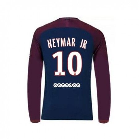 PSG Neymar Jr 10 Hjemmebanetrøje 17-18 Lange ærmer  #Billige Fodboldtrøjer