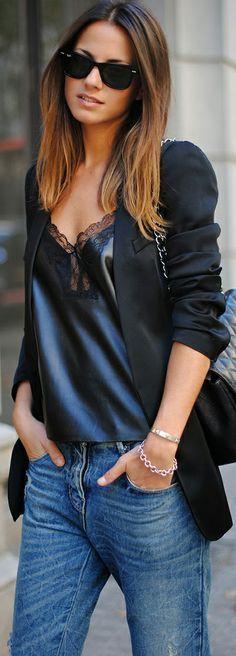 jeans, blazer glam blause Please follow / repin my pinterest. Also visit my blog http://mutefashion.com/