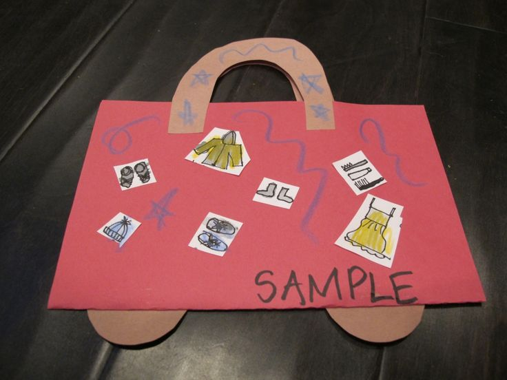 suitcase preschool craft - Google Search