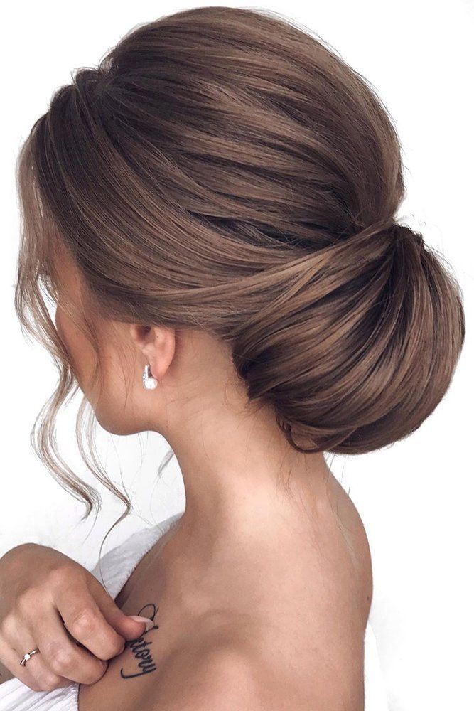 30 Bridesmaid Updos - Elegant And Chic Hairstyles ❤ bridesmaid updos low elegant textured chignon mpobedinskaya #weddingforward #wedding #bride #bridesmaidupdos