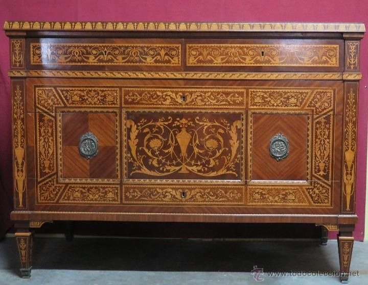 Antigua e importante comoda preciosa herraiz - Ver muebles antiguos ...