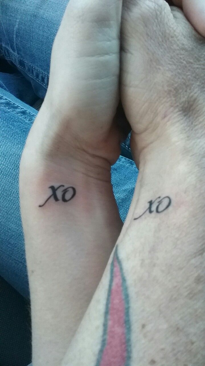 His And Hers Tattoo Xoxo Him And Her Tattoos Matching Tattoos Tattoos